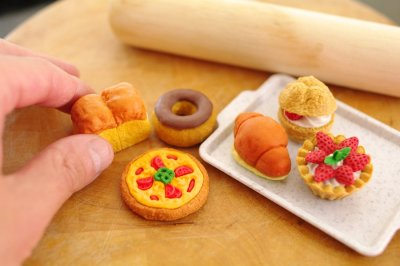 Photo2: Iwako Puzzle Eraser Set - Bakery Assortment