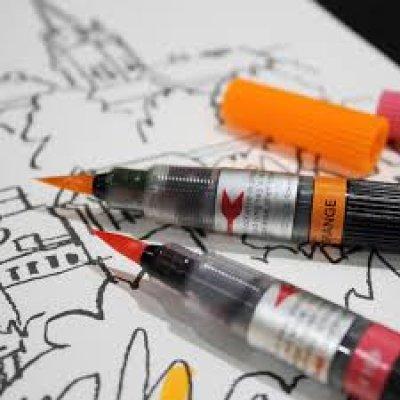 Photo3: Pentel Art Brush Pen -Turquoise
