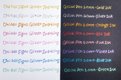 Photo3: Uni-ball Signo Glitter Sparkling Gelink Pen 1.0mm -Silver Ink