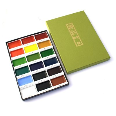 Photo1: Kuretake Gansai Tambi 18 Colours