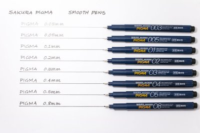 Photo2: Sakura Micron PIGMA Drawing Pen 0.05 mm -Black