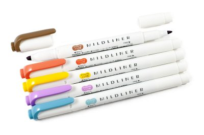 Photo2: Zebra Mildliner Highlighter -Yellow Pack -WKT7-5C-RC
