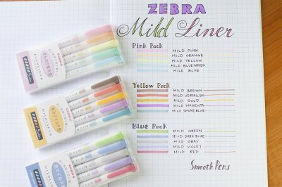 Photo3: Zebra Mildliner Highlighter -Pink Pack -WKT7-5C