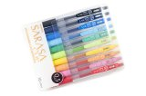 Zebra Sarasa Clip Gel Ink Pen 0.5mm -10 Colour Set