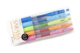 Zebra Sarasa Clip Gel Ink Pen 0.5mm -5 Colour Set