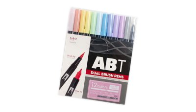 Photo1: Tombow ABT Dual Brush Pen -Pastal 12 Colour Set