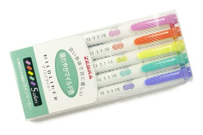 Photo1: Zebra Mildliner Highlighter -Green Pack -WKT7-5C-HC
