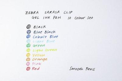 Photo2: Zebra Sarasa Clip Gel Ink Pen 0.5mm -10 Colour Set