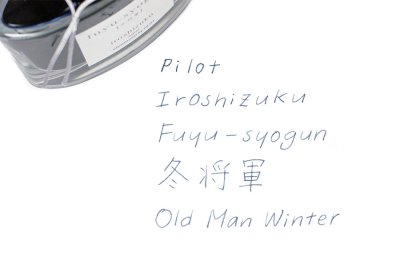 Photo2: Pilot Iroshizuku Fuyu-shogun -Old Man Winter Ink 50ml