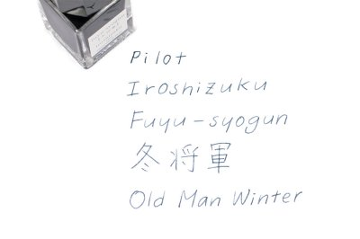 Photo2: Pilot Iroshizuku Fuyu-shogun -Old Man Winter Ink 15ml