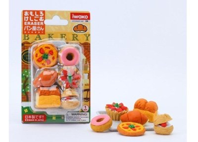 Photo1: Iwako Puzzle Eraser Set - Bakery Assortment