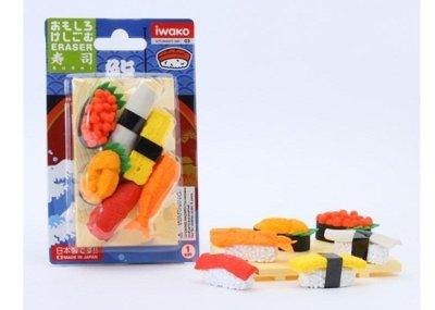 Photo1: Iwako  Puzzle Eraser Set - Sushi Assortment